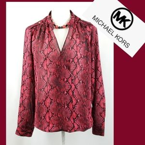Michael Kors Womens Popover Blouse Size Large